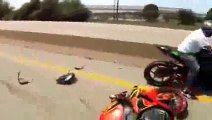 [Motorcycle Crash]  Accident DRIFTING Crash On Highway Honda CBR1000RR Gymkhana Bike Drifts 2015