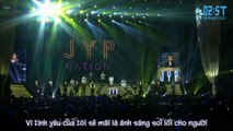 [Vietsub - 2ST] [141213] Don't Leave Me & Comeback When You Here This Song - JYP Nation @ JYP Nation Korea 2014 'One Mic