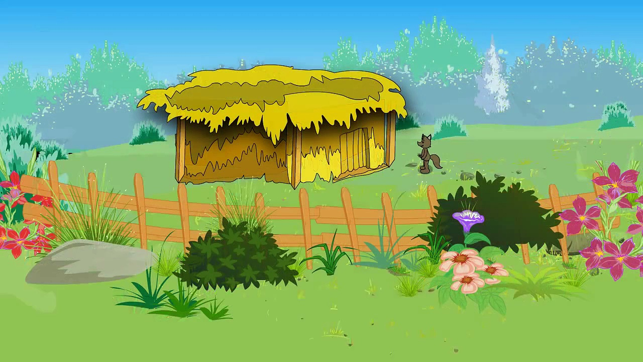Three Little Pigs Nursery Rhymes | 3D Animation Cartoon Three Little Pigs Kids Nursery Songs