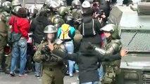 Grave represión policial en Marcha de estudiantes por Educación