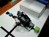 Мій робот на WRO 2011 (III place)(Lego Nxt cube sorter size color complete)