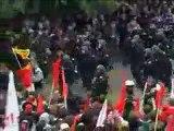 G8 riot in Rostock, Germany, June 2007