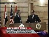 Iraqi Journalist Throws Shoes at President Bush Over Iraq War