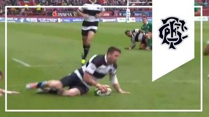 Amazing Alex Cuthbert try! | Ireland 21-22 Barbarians