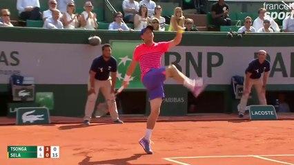 Roland Garros 2015 : La partie de foot entre Jo Wilfried Tsonga et Dudi Sela !