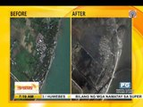 Satellite images show super typhoon damage