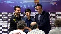 FCB Hoquei: Presentació de Lucas Ordóñez / Presentación de Lucas Ordóñez