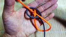 Paracord Tutorial: How To Make A 2 Color Monkeys Fist And Snake Knot