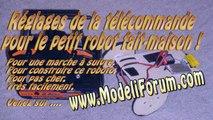 Construction d'un robot télécommandé - Réglages sur la télécommande