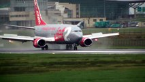 WET RUNWAYS - Takeoffs & Landings in Extreme Wet Conditions