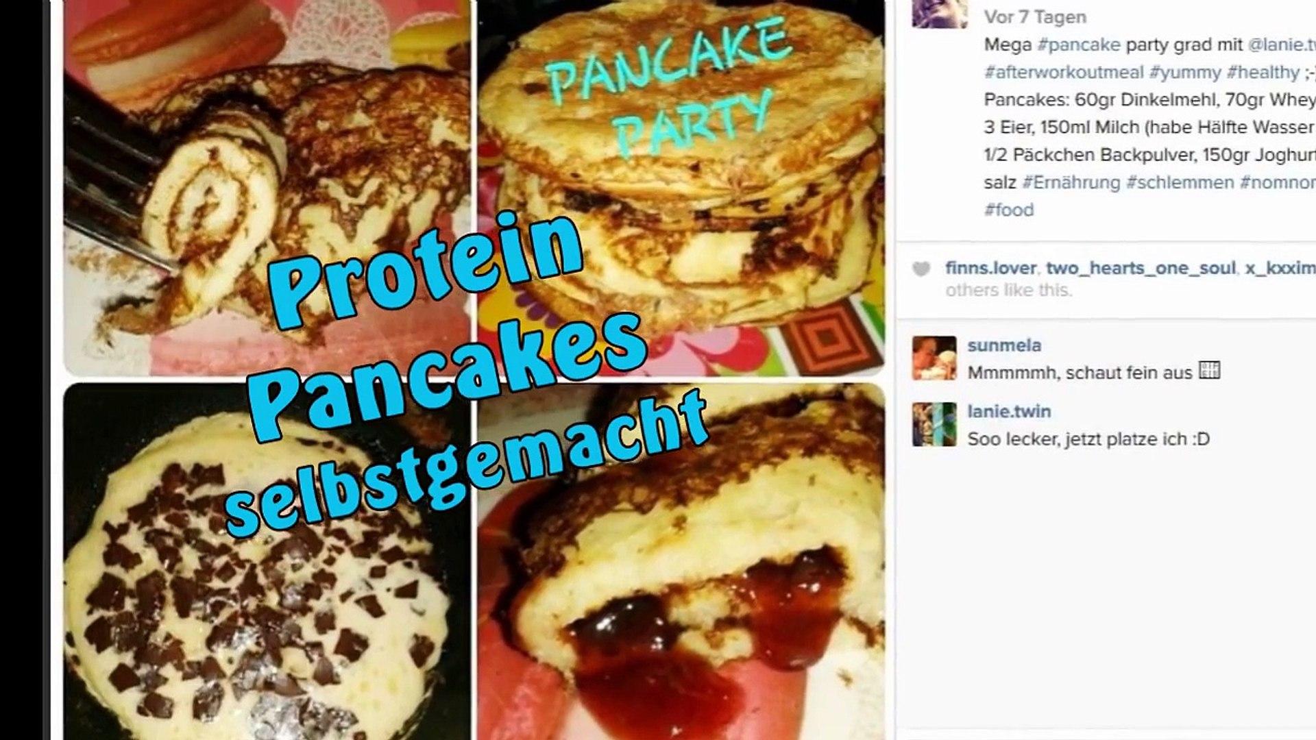 Protein Pancakes - Rezept für 10 Pancakes