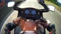 Un motard perd le contrôle de sa moto à 200km/h