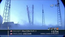 Launch of SpaceX Falcon 9 Carrying DSCOVR Space Weather Sat
