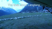 Nepal Earthquake - Arial view of Langtang Valley Trekking route after the 25th April, 2015 avalanche and landslide.