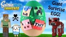 GIANT Minecraft Play Doh Surprise Egg | Minecraft Hangers Series 2 Scribblenauts Unmasked