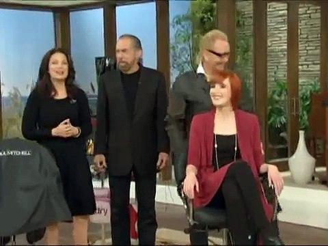 Fran Drescher in a Hair Cut off Competition on the Fran Drescher tawk show