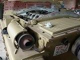 italian WW2 tank restored starting engine