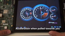 Adeneo Embedded Qt Automotive Digital Dashboard demo running on Android Sabre SDP