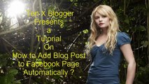 HOW TO: Auto Publish Blog Post to Your Facebook Page Automatically with RSS Graffiti 2.0