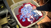 Swirling a Tele Guitar with Testors Enamels Luthier Dipping Swirl