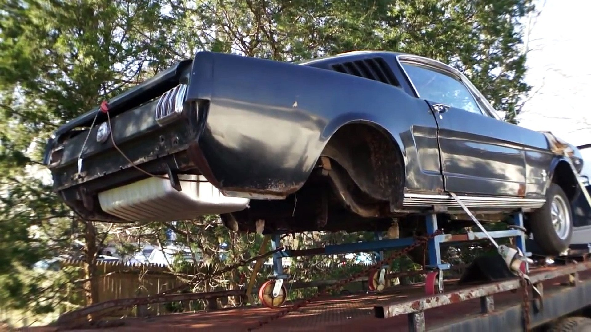 1966 ford mustang fastback project shell for sale