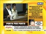 Punto por Punto: Palasyo, namudmod umano ng reward sa mga senador sa Corona trial