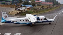 The world's craziest Lukla airport - aircraft take-off