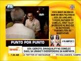 Punto por Punto: Gov. Ejercito, dinisqualify ng Comelec dahil sa umano'y overspending sa kampanya