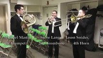 The National Brass Symposium Takes an Inside Look at the BSO Brass Warm Ups