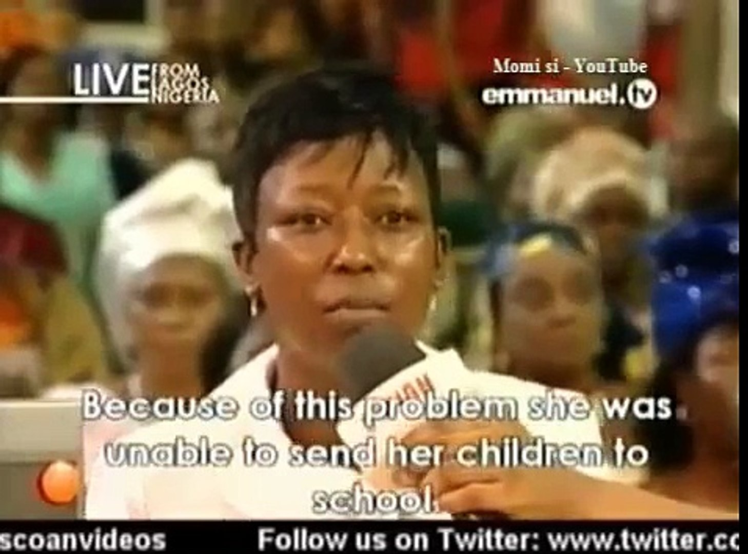 SCOAN 30 March 2014: Testimony: From Poverty To Prosperity Through  Anointing Water, Emmanuel TV