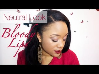Valentine's Day Make-Up // Neutral Look & Bloody Lips || CeriseDaily ❤