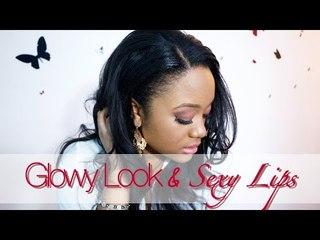 Valentine's Day Make-Up // Glowy Look & Sexy Lips || CeriseDaily ❤