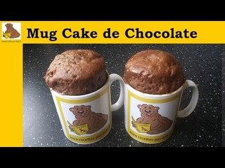 receita do Mug cake de chocolate  (rapida e facil)