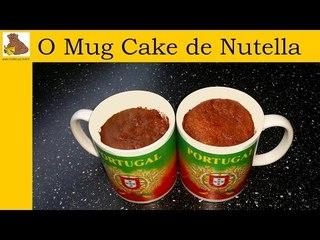 receita do Mug cake de nutella (rapida e facil)