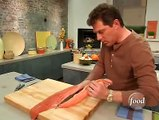 www.socialdiets.com - Reduce Depression by eating Salmon - Bobby flay Salmon debones salmon