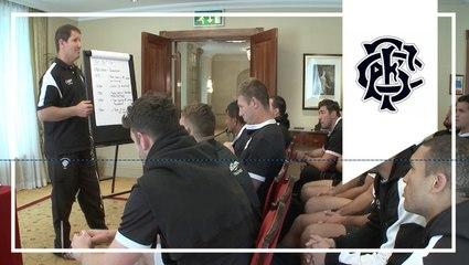 Team Talk and Training - One day until England at Twickenham.
