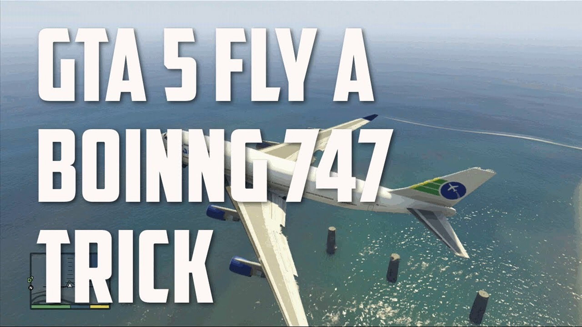 GTA 5 How Fly A Boeing 747 Jet Aircraft