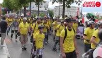 Rennes sur roulettes 2015 : le départ de la randonnée Les roues libres