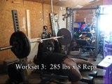 320 x 2 x 8 - Ed Coan Bench Press Program - Week 4 (at 229.8 lbs)