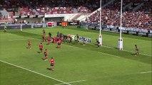 TOP14 - Toulouse - Oyonnax: Essai Hemani Paea (OYO) - Barrage - Saison 2014/2015