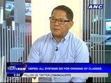 DepEd: All systems go for opening of classes