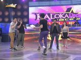 Shirtless 'Taylor Lautner' sings on 'It's Showtime'