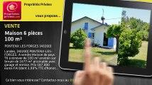A vendre - maison - PONTENX LES FORGES (40200) - 6 pièces - 100m²