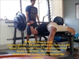 Eric Spoto style Bench Press and Squats(Morning and Evening sessions) | Monday Dec 2nd 2013