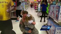 Soldier surprise: Iowa dad surprises daughter at Target