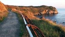 La vía verde de El Tranqueru concejo de Carreño Asturias