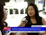 Donaire's wife recounts saving drowning child