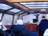 Inside an Amsterdam canal boat