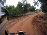 Moto Maroc, dirt road in atlas