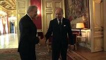 Laurent Fabius avec Dimitris Avramopoulos, ministre grec des Affaires étrangères (04.02.2013)
